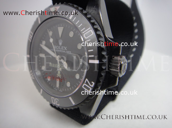 Ceramic Bezel Rolex Submariner Pro-hunter Black Dial 40mm Nato b
